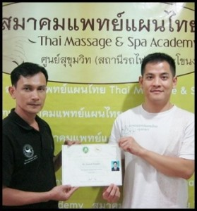 Chris Thai massage training in Thailand
