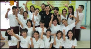 Thai massage training  group 2